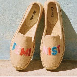 Soludos FEMINIST Smoking Flat Espadrille Shoes